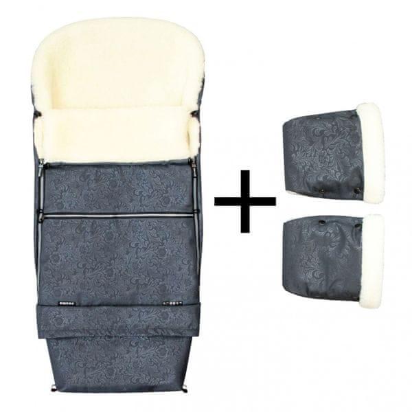Emitex Zimní set ROMANCE COMBI + rukavice šedá