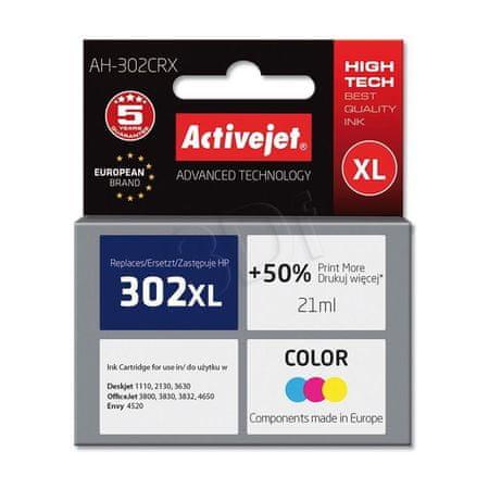 ActiveJet tinta HP 302XL F6U67AE, u boji