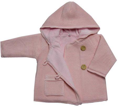 EKO dívčí svetr s knoflíky 104 světle růžová  e93bc43efc