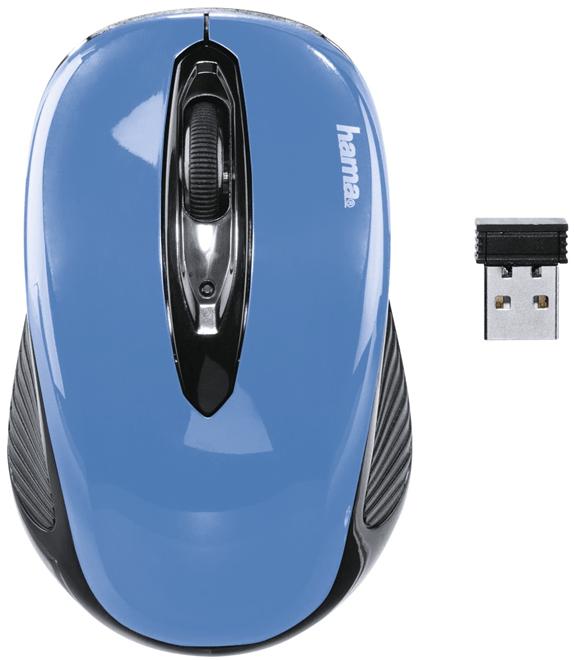 Hama AM-7300, černá/modrá (86566)