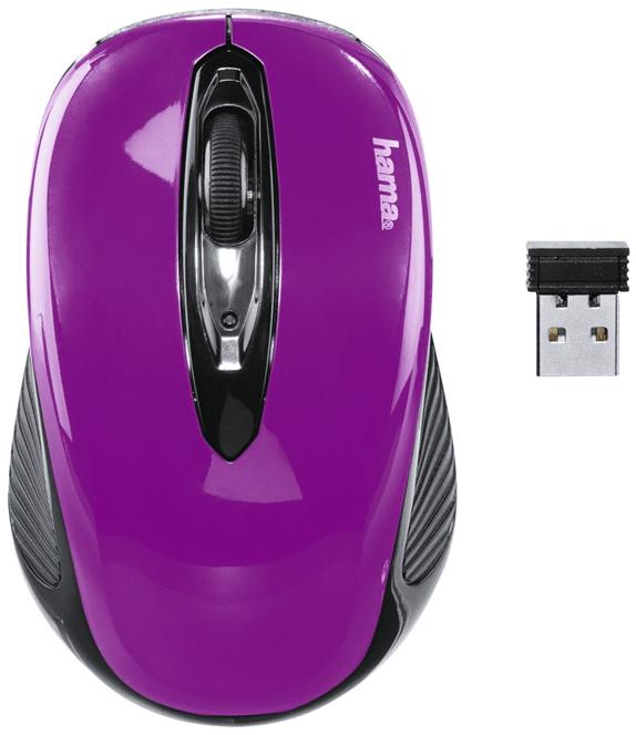 Hama AM-7300, černá/fialová (86565)