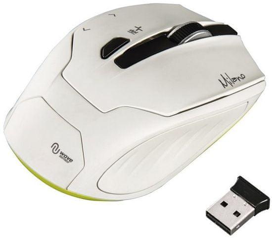 HAMA mysz Milano, biała (53945)