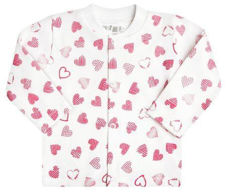 Nini dekliška jakna, 56, bela/roza
