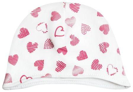 Nini otroška kapa, 40, bela/roza