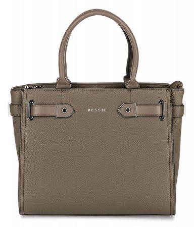 Bessie London ženska torbica Reese, rjavo zelena