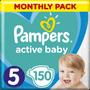 3 - Pampers Pleny Active Baby 5 Junior (11-16kg) Měsíční balení - 150 ks