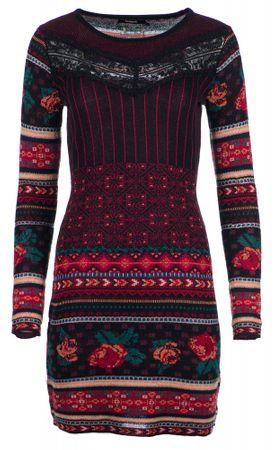 Desigual ženska obleka Naila, rdeča, M