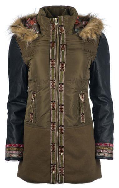 Desigual dámský kabát Porto 36 khaki