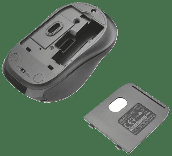 Trust brezžična optična miška Bluetooth Xani, črna