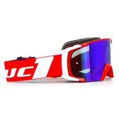 Motocyklové crossové okuliare S-line Scrub MX červená-biela