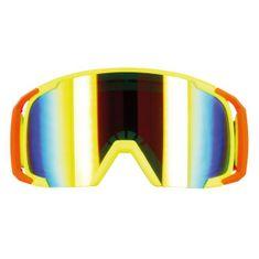 Motocyklové crossové brýle S-line Scrub MX žlutá-červená-žlutá