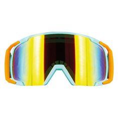 Motocyklové crossové brýle S-line Scrub MX modrá-oranžová-modrá
