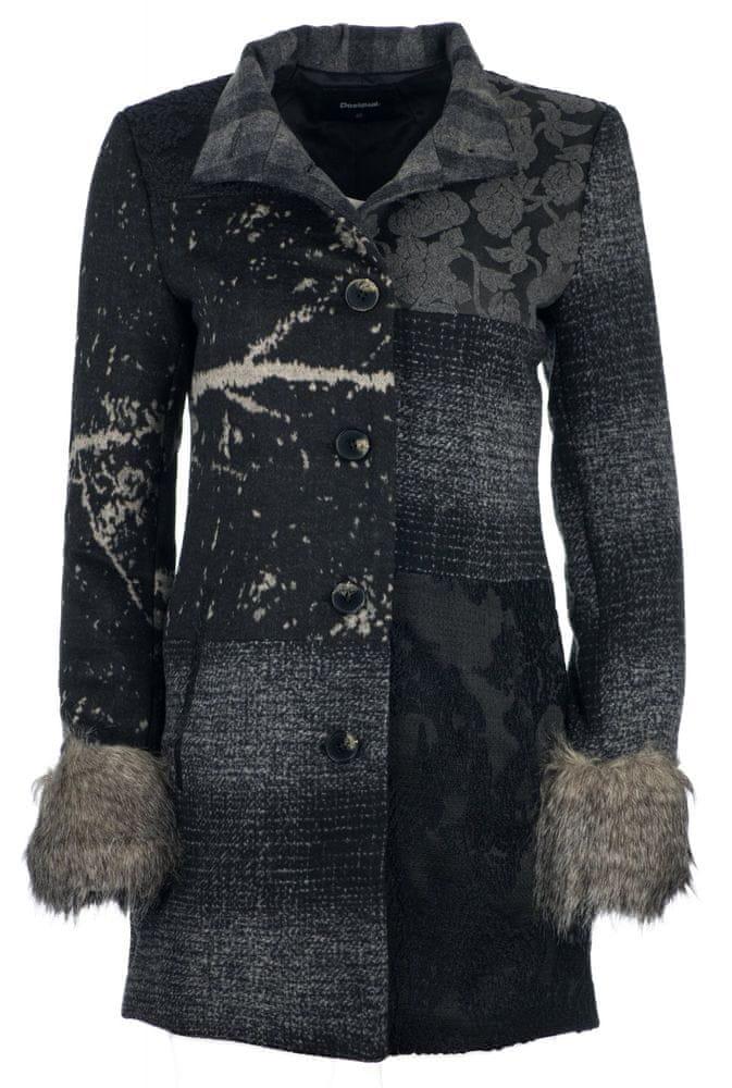 Desigual dámský kabát Charlotte 38 tmavě šedá