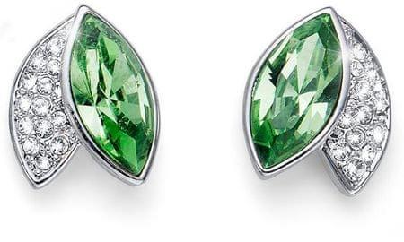 Oliver Weber Elegantné náušnice so zelenými kryštály Leaf 22686 MUL ... 98dd689dbcd