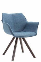 BHM Germany Jídelní čalouněná židle Siksak textil, nohy ořech