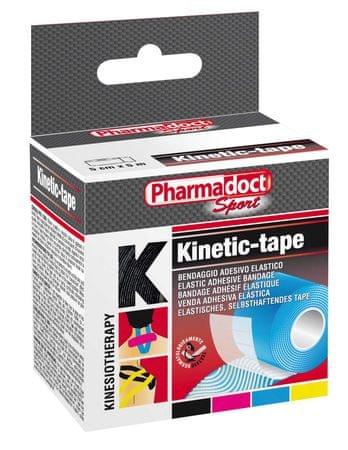 Pharmadoct kineziološki trak, črn, 5cm x 5m