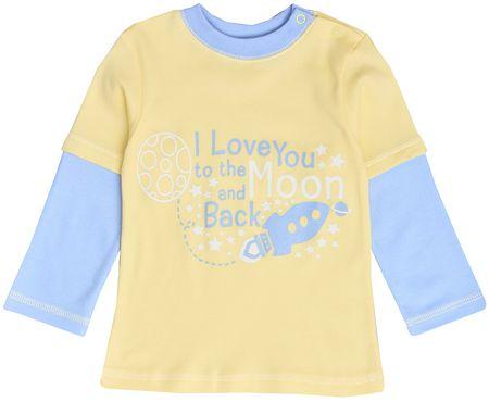Garnamama Koszulka chłopięca 80 żółty