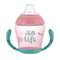 Canpol babies nevylévací hrníček se silikonovým pítkem 230 ml sea life
