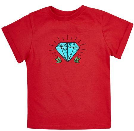 Garnamama fantovska majica s kratkim rokavom, 98, rdeča