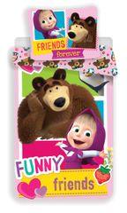 "Jerry Fabrics komplet posteljine Maša i medvjed ""FRIENDS"""