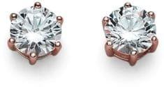 Oliver Weber Růžově pozlacené náušnice ze stříbra s krystaly Brilliance 62066RG 001 stříbro 925/1000