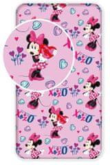 Jerry Fabrics otroška rjuha Minnie pink 02, roza