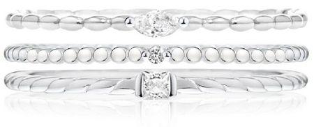 Morellato Zestaw trzech pierścieni SAHA14 laminowanych (obwód 56 mm) srebro 925/1000