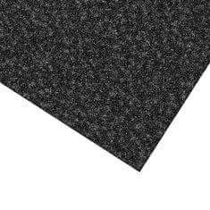FLOMAT Černá kobercová vnitřní čistící zóna Valeria, FLOMAT (Bfl-S1) - 0,9 cm