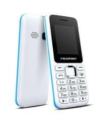Blaupunkt telefon na tipke FS 03 2G, dual sim, belo moder