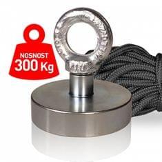 Supermagnet 300 kg - set s lanem