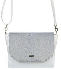 GROSSO BAG stříbrná crossbody kabelka