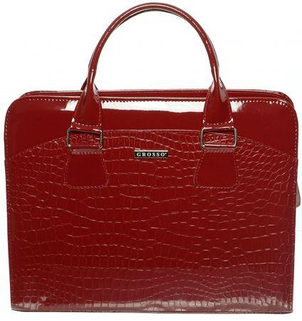 GROSSO BAG červená kabelka