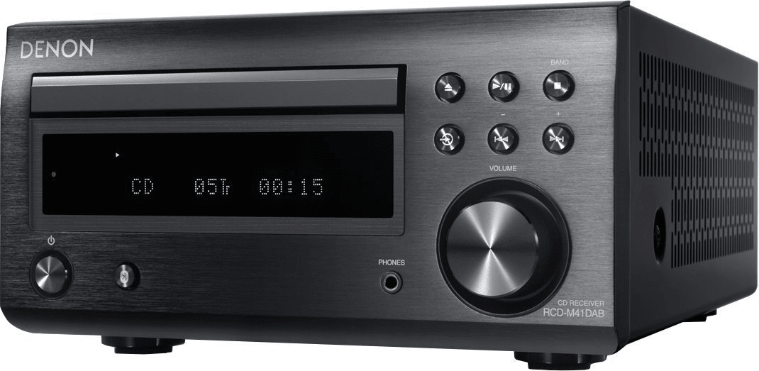 minisystém Denon RCD-M41DAB Black čistý zvuk poměr odstupu signál šum