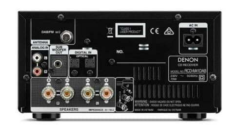 minisystém Denon RCD-M41DAB Black cd mechanika bluetooth bezdrátové připojení