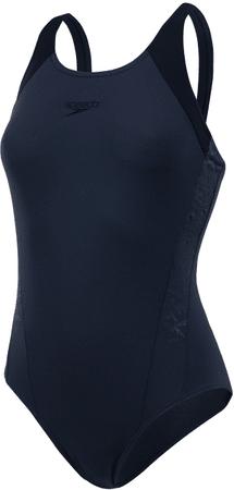 Speedo ženske kopalke Boom Splice Muscleback, siva/črna, 34