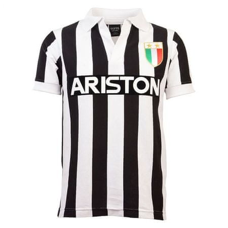 dres juventus, V-Neck, Home, retro 1984, S