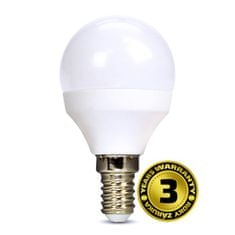 Solight LED žárovka 3-pack, miniglobe, 6W, E14, 3000K, 450 lm, bílé provedení