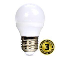 Solight LED žárovka 3-pack, miniglobe, 6W, E27, 3000K, 450lm
