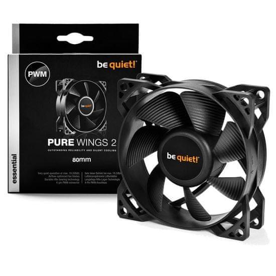 Be quiet! ventilator za ohišje Pure Wings 2, 80 mm, 4-pin PWM