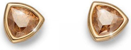Oliver Weber Pozłacane kolczyki z kryształami Ocean Trilli 22635G