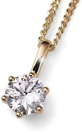 Oliver Weber Brilliance aranyozott ezüst nyaklánc kristállyal61125G 001 ezüst 925/1000