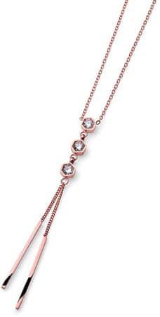 Oliver Weber Luxusné oceľový náhrdelník Proof 11921RG