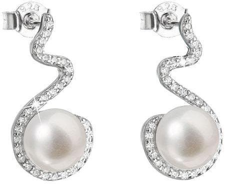 Evolution Group Stříbrné náušnice s pravými perlami 21037.1 stříbro 925/1000