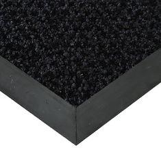 FLOMAT Černá textilní čistící vnitřní vstupní rohož Alanis, FLOMAT - 0,75 cm