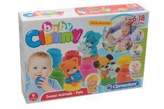 Clementoni mehke kocke Clemmy s knjigo in figuricami ljubljenčkov