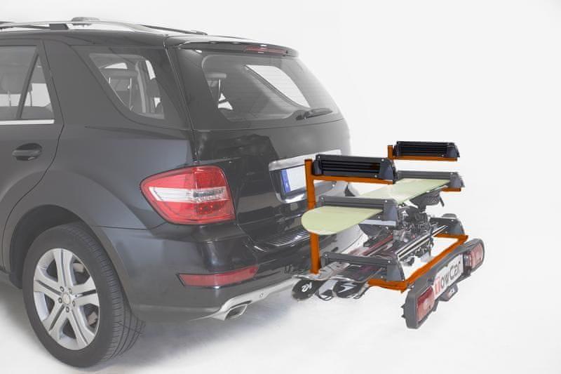 TowBox ANETO na tažné zařízení - 4 páry lyží