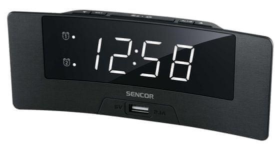 SENCOR zegar z budzikiem SDC 4912 WH