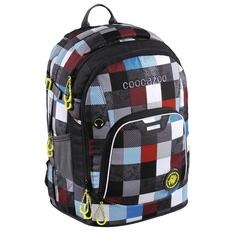 CoocaZoo Školní batoh Coocazoo RayDay, Checkmate Blue Red