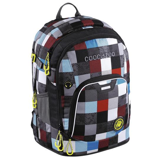 CoocaZoo plecak szkolny Coocazoo RayDay, Checkmate Blue Red