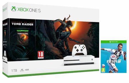 Microsoft Xbox One S 1TB + Shadow of The Tomb Raider + Fifa 19